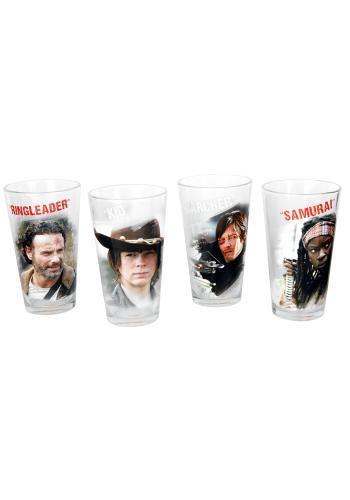 Characters Set - Pintglas van The Walking Dead