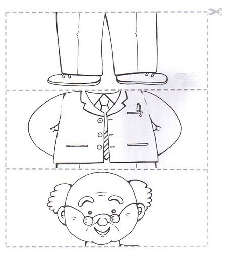 easy old man puzzle craft      Crafts and Worksheets for Preschool,Toddler and Kindergarten
