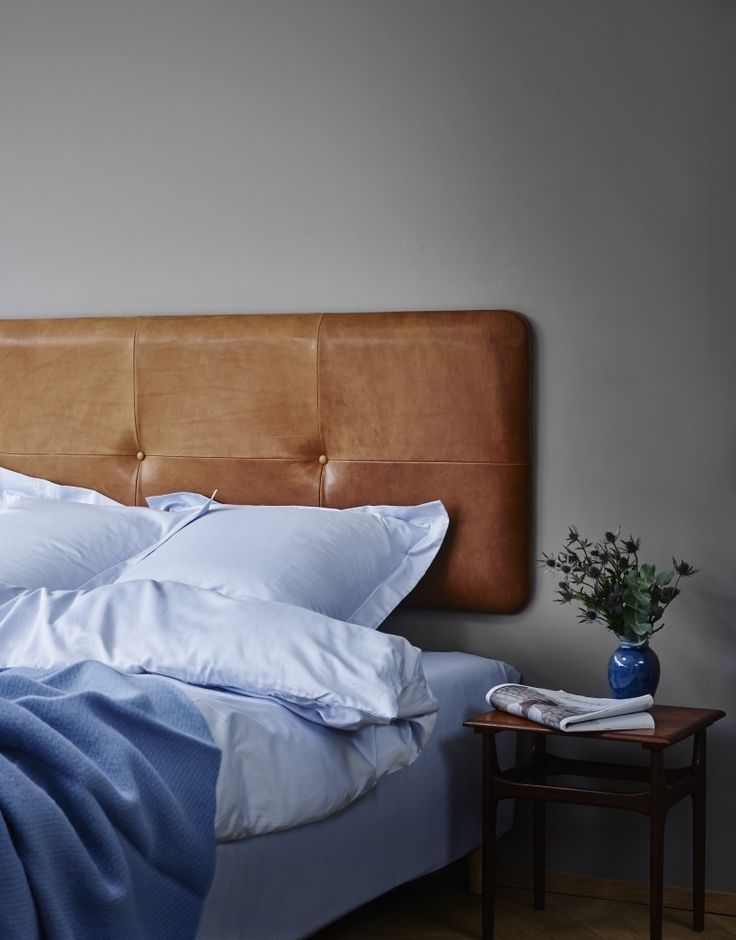 Pieces - cognac version in 2020 | Leather bed, Headboards ... on Cognac Leather Headboard  id=96154
