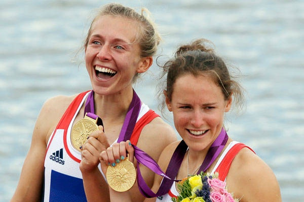 Lightweight double sculls - women  Gold: Katherine Copeland, left, and Sophie Hosking, Great Britain