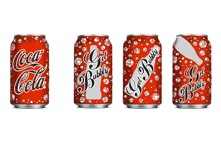 """Project 2- Packaging Design For this project, we had to use the successful brand identity of Coca Cola as a medium for a new consumer message. This helped us to gain an understanding of brand identities and maintaining those identities in our designs. My consumer message was, """"Get Bubbly"""". Overall, I am not terribly happy with my outcome. I had trouble finding inspiration for this project and as a result I feel like my design suffered."""