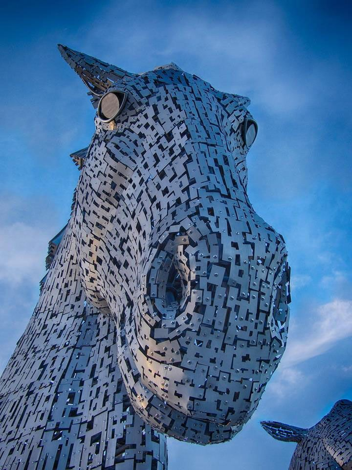 Best Kelpies Images On Pinterest Scotland Monuments And - Amazing horse head sculpture lights scottish skyline