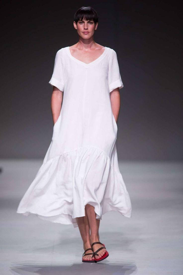 White Linen dress, Lunar SA Fashion Week Summer 2015 Collection | Lunar