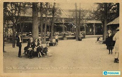 Rowayton postcard post card - The Grove, Rowayton, CT