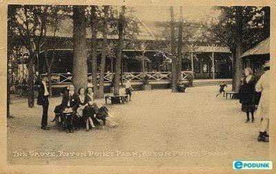 Rowayton postcard post card - The Grove, Rowayton, CT