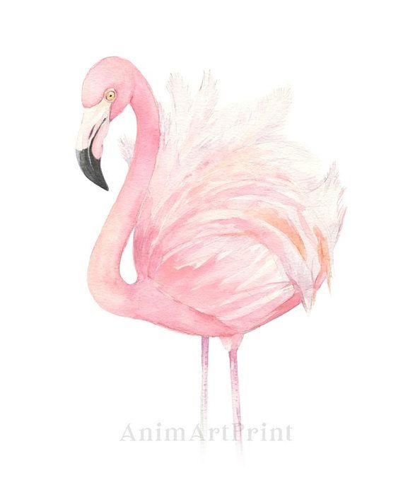 photo regarding Flamingo Printable identified as Red Flamingo Decor, Printable Flamingo Artwork, Watercolor