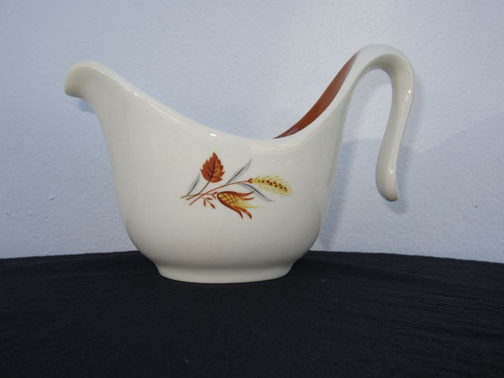 VINTAGE CREAMER PITCHER TAYLOR SMITH TAYLOR AUTUMN HARVEST WHEAT & LEAVES #TaylorSmithTaylorCompany
