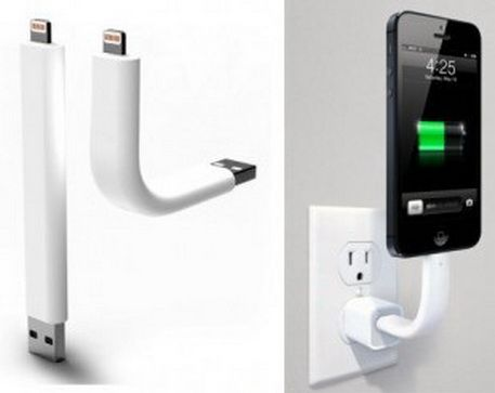 Simply Cool Products - Lightning charging cable also functions as a stand for your iPhone 5
