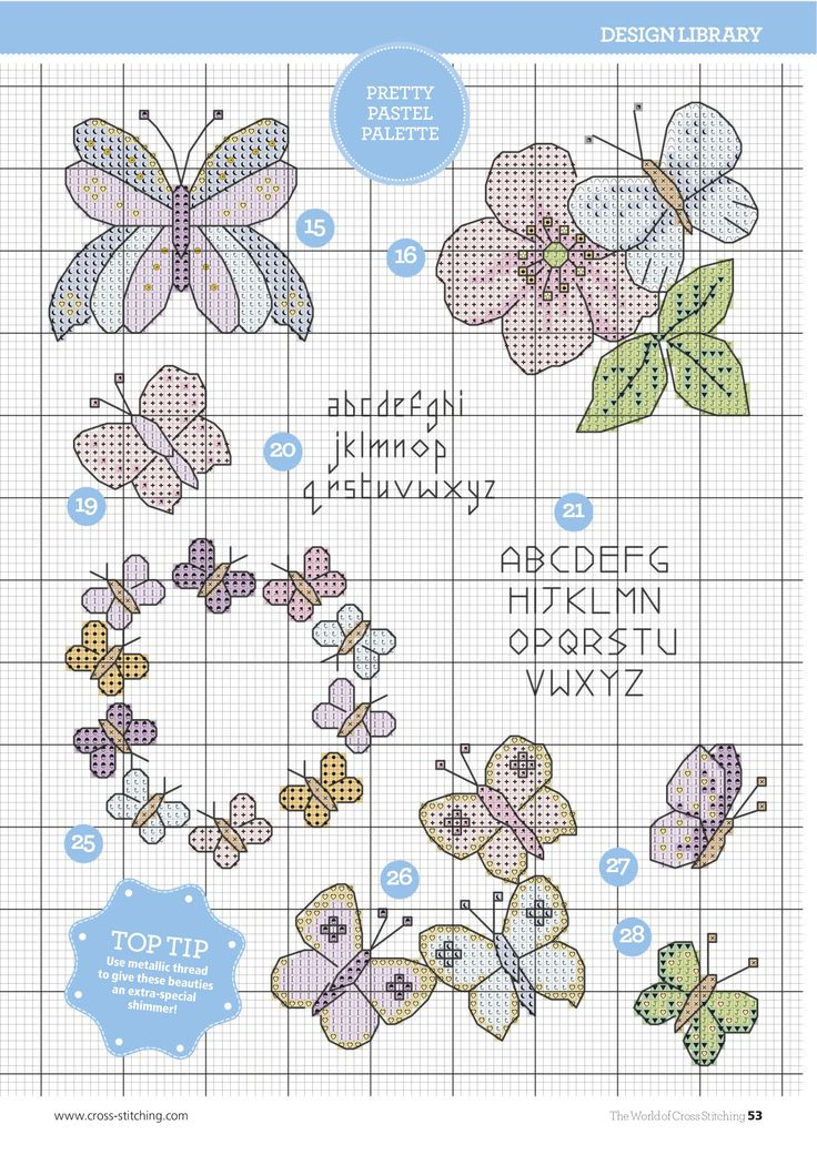 Beautiful Butterflies From The World of Cross Stitching N°240 April 2016 7 of 9