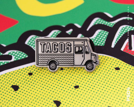 Taco Truck - broche en émail