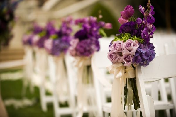 small church wedding decoration with chairs | church wedding decor | Wedding -Chair decor-