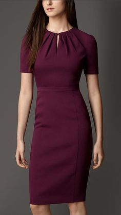 Pleat Neck Dress. Reminds me of Cher's dress from the movie Clueless! But a more conservative look. | Burberry