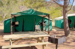 hermit gulch campground site map