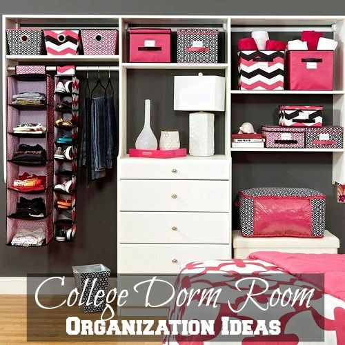 How to get your college dorm room organized. Your bedroom is your life when you're at college! Look at these easy DIY, space and organization ideas. #college #dorm #decor