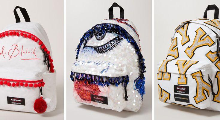 Eastpak et Designers Against AIDS : 16 sacs à dos customisés par des créateurs