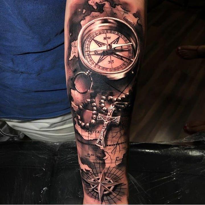 Unterarm tattoo kompass männer SKIN STORIES