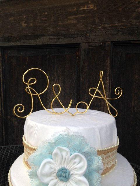 Monogram Cake Topper Wedding Cake Topper Custom Cake Topper