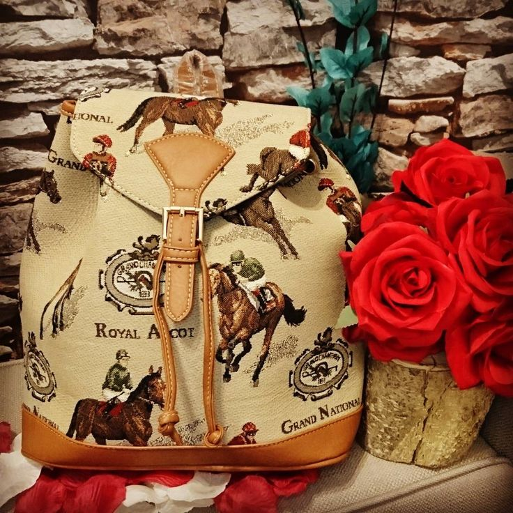Loving this gorgeous Signare Racing Rucksack with a racing theme! | Pretty | Leather Bag | Handbag | Love Z Tan | Beige | Lofthouse Equestrian