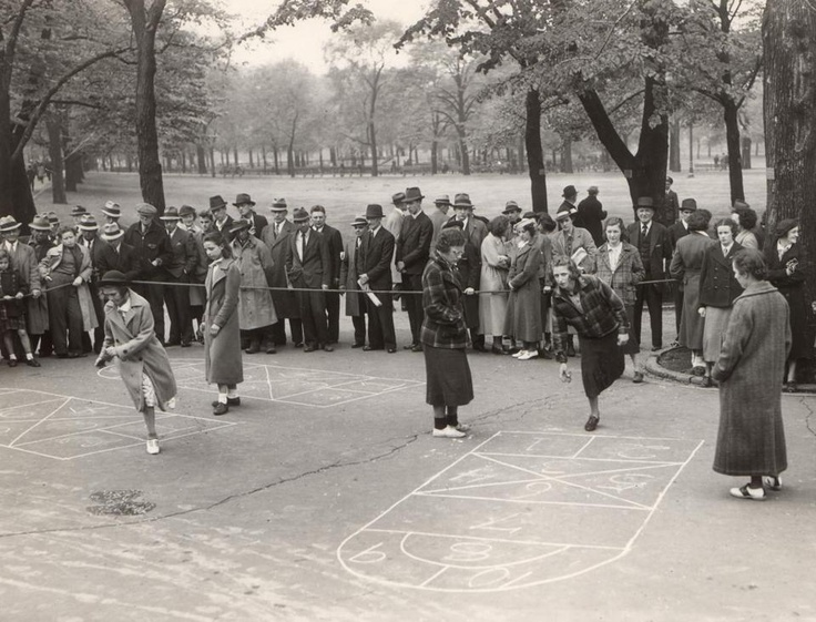 May 16, 1937: The third annual Hopscotch Championship was held on Boston Common's Lafayette Mall. More than 1,900 girls from the playgrounds of Boston competed in elimination contests around the city, hoping to become the best hopscotch player in the city. Mildred Doherty of Roslindale was the winner that day.