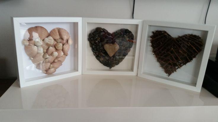 Doğal malzemelerden yaptığım kalplerim....Ben çok seviyorum bunları....:)
