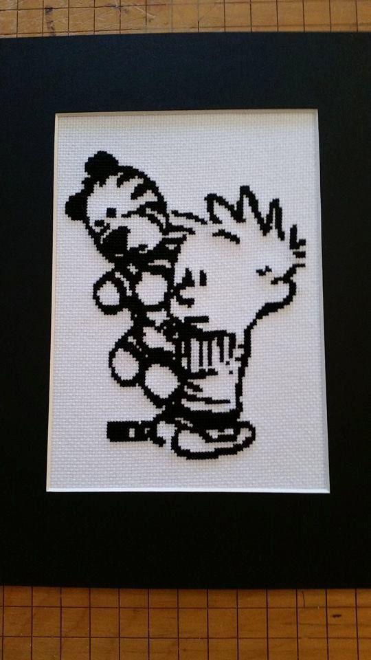 Calvin and Hobbes Cross Stitch pattern PDF by FeralCatStudio