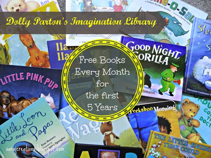 Your child can get sent a free book every month from birth to age 5 through Dolly Parton's Imagination Library.  Read all about how awesome this program is here.
