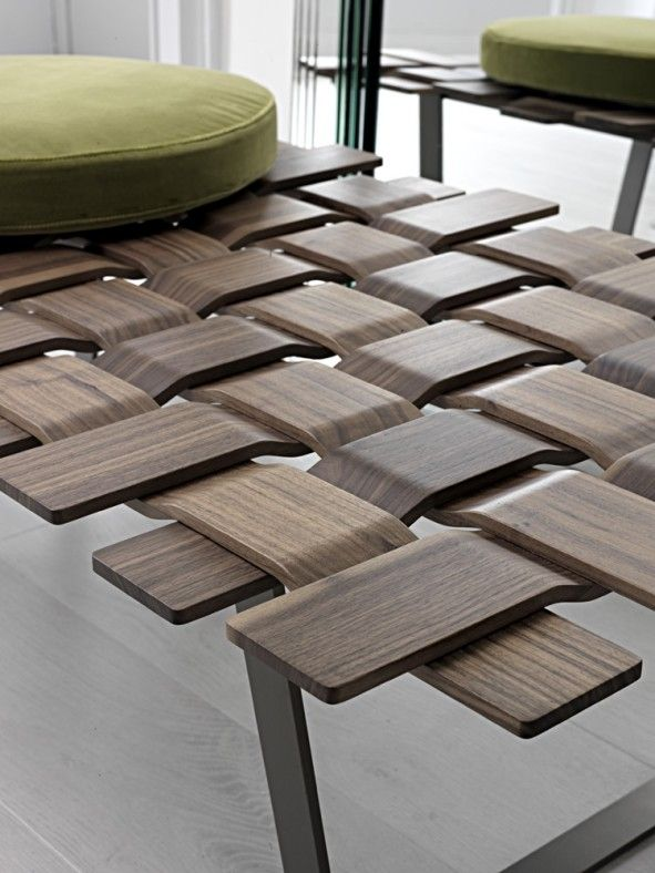 interior: Wonderful Wooden Bench Idea With Creative Wooden Seating Shaped Design Idea Plus Lovely Round Soft Seat Cushions Design - Modern Wood Bench Design and Ideas, Luxury Busla: Home Decorating Ideas and Interior Design