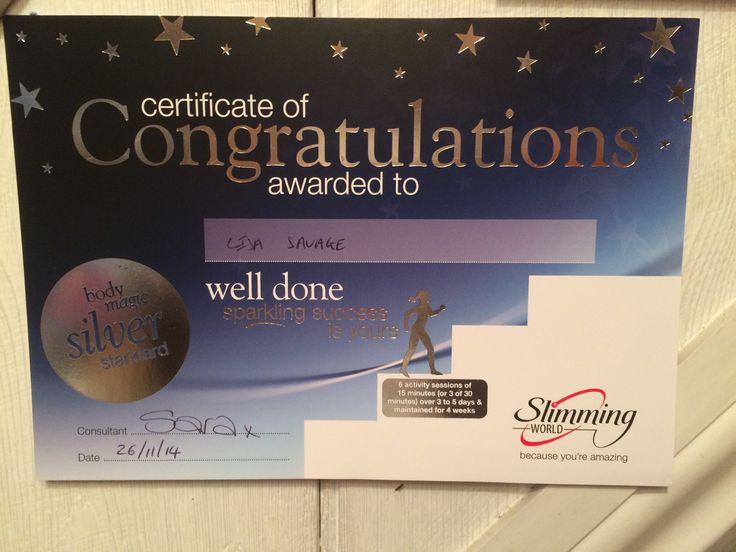 Slimming World Body Magic Silver Award | Slimming World ...