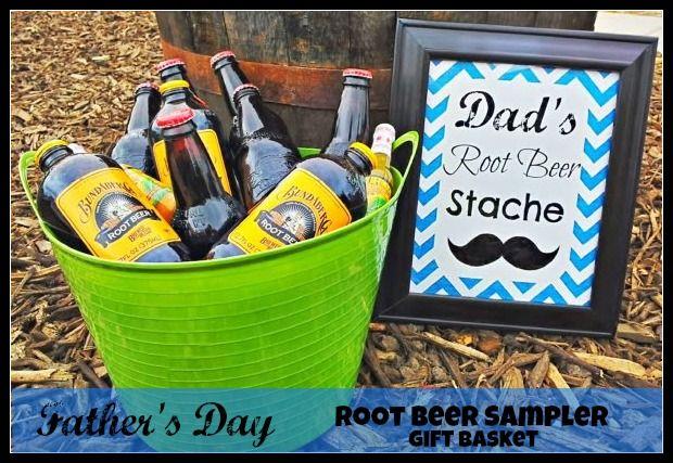 DIY Fathers Day Gift Ideas Root Beer Sampler Gift Basket http://momalwaysfindsout.com/2013/06/root-beer-gift-basket/