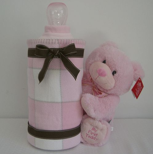 baby bottle diaper cake