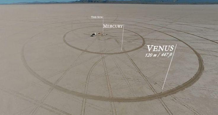 Conoce sobre Consiguen recrear el Sistema Solar a escala en el desierto de Nevada