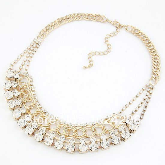 Find More Chain Necklaces Information about New 2014 Fashion Individual New Style Gold and Silver Color Alloy Exaggerate Spikes Punk Necklace for Women,High Quality Chain Necklaces from XJD Store on Aliexpress.com
