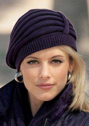 Элегантная вязаная шапочка Pretty knit hat- use google translate