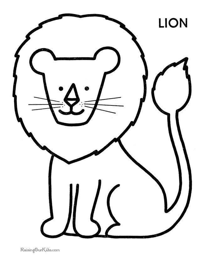 coloring pages for preschoool - Pages To Colour