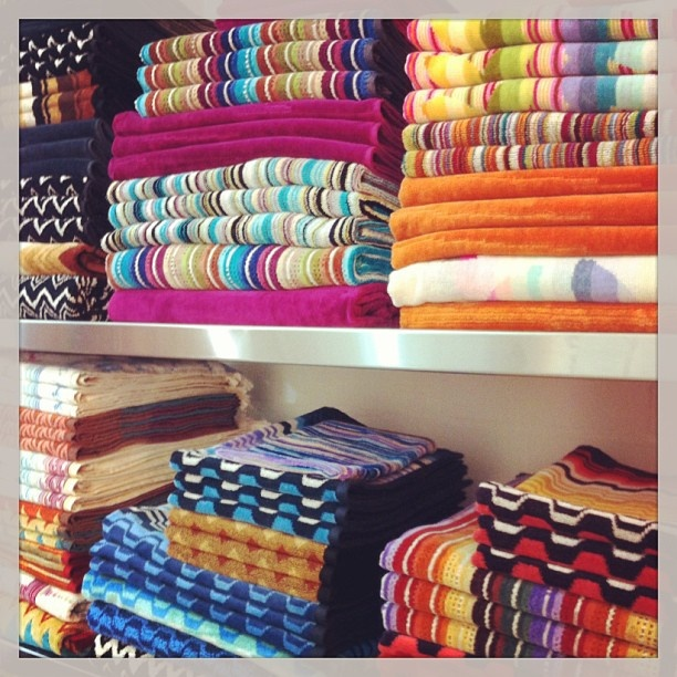 Add colour to your bathroom, with these fabulous towels and bath mats from Missoni Home