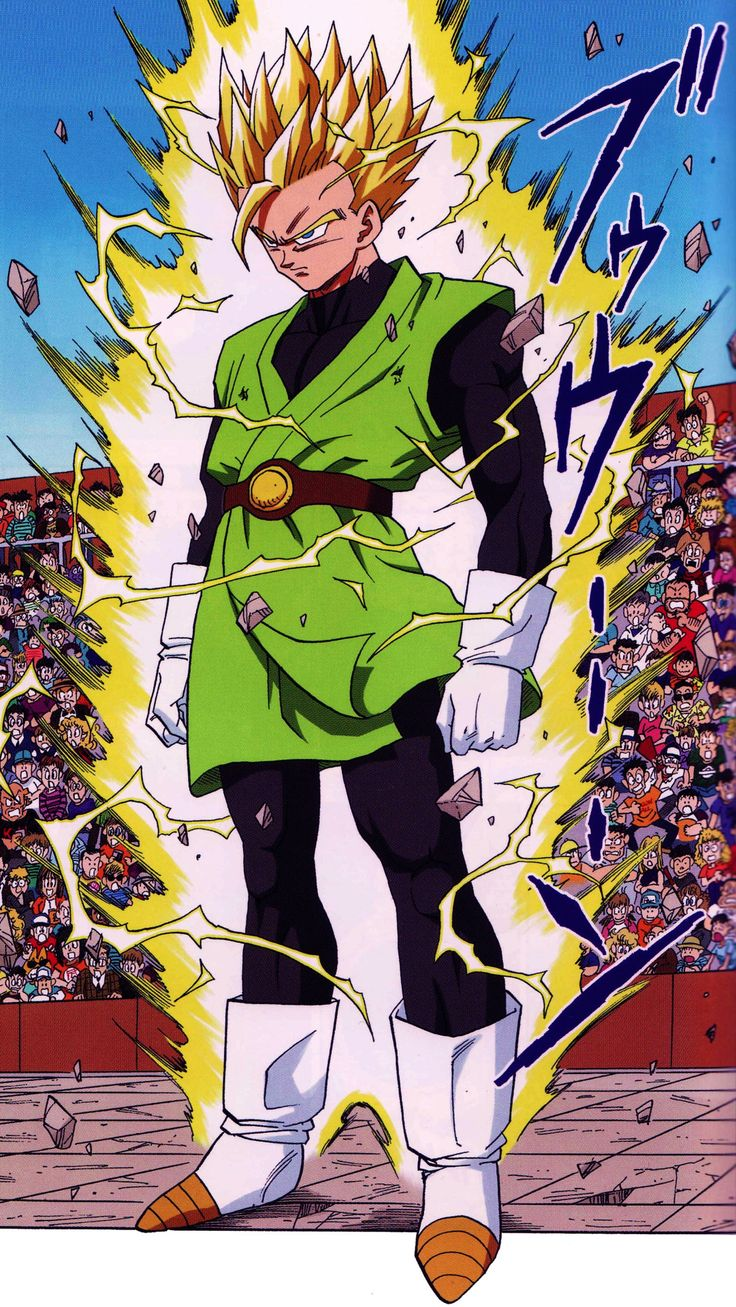 SONGOHAN SSJ2 illustrated by Akira Toriyama from Dragon Ball full colour (Japanese version) Published by JUMP COMICS / Shueisha group