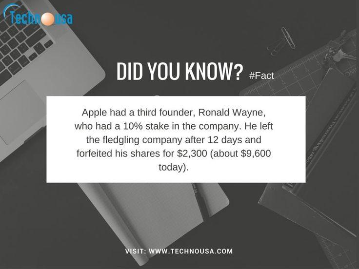 Fact about Apple ( Steve Jobs )