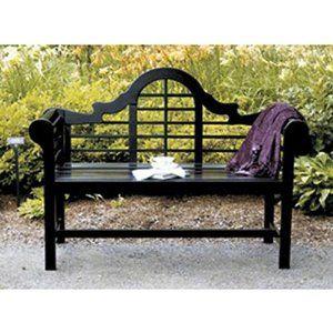 Amazon Com Achla Designs Lutyens 4 Foot Bench Black 400 x 300