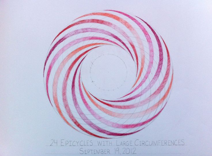 Waldorf ~ 6th grade ~ Geometric Drawing ~ 24 Epicycles with Large Circumferences ~ main lesson book