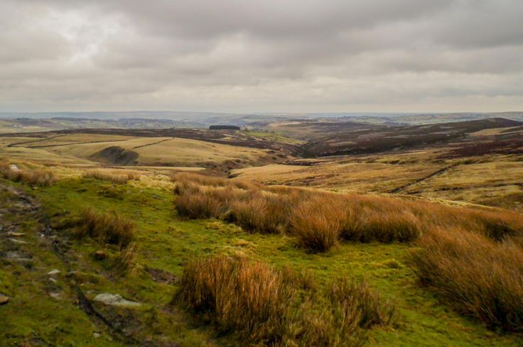 Taken whilst at Top Withins which is the remains of a farmhouse that is said to have been the inspiration for the Earnshaw House in Wuthering Heights. Te picture was taken looking towards Haworth aross the moor from the farmhouse ruins. Picture Copyright © 2017 Colin Green All Rights Reserved
