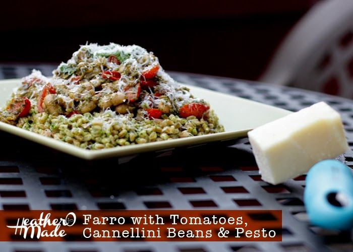 Farro with Tomatoes, Cannellini Beans & pesto. vegetarian recipe ...