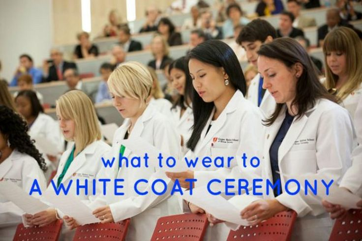 What to Wear to a White Coat Ceremony. As it turns out, they do expect you to be wearing additional clothing under the coat.