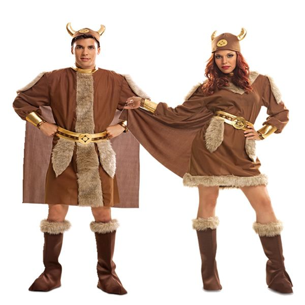 Disfracesmimo disfraz de pareja de vikingos hombre y - Fiesta de disfraces ideas ...