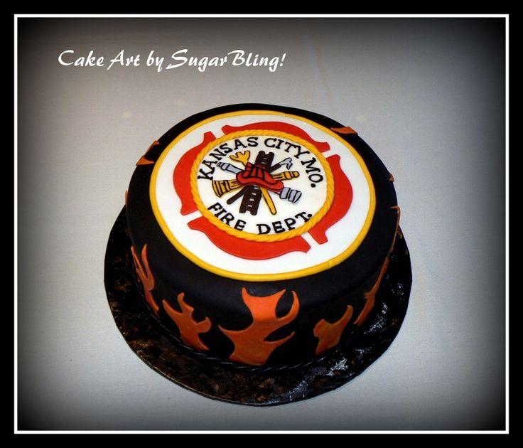 firefighter cakes   Firefighter Groom's Cake