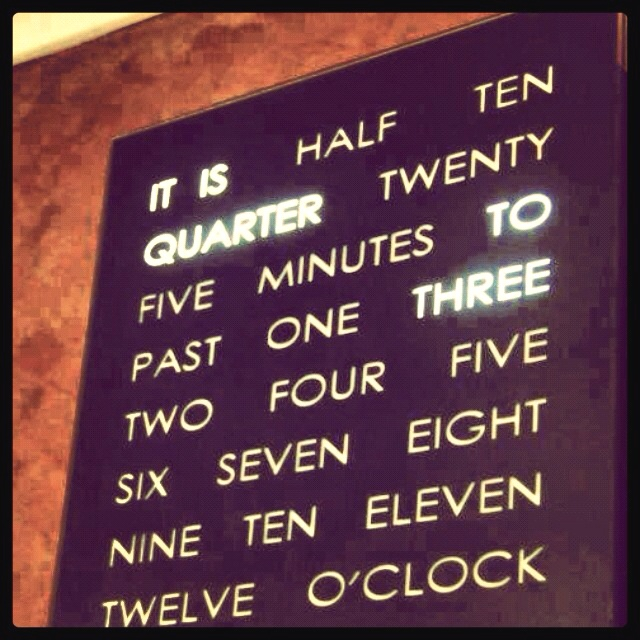 It's a clock, a AWESOME clock!