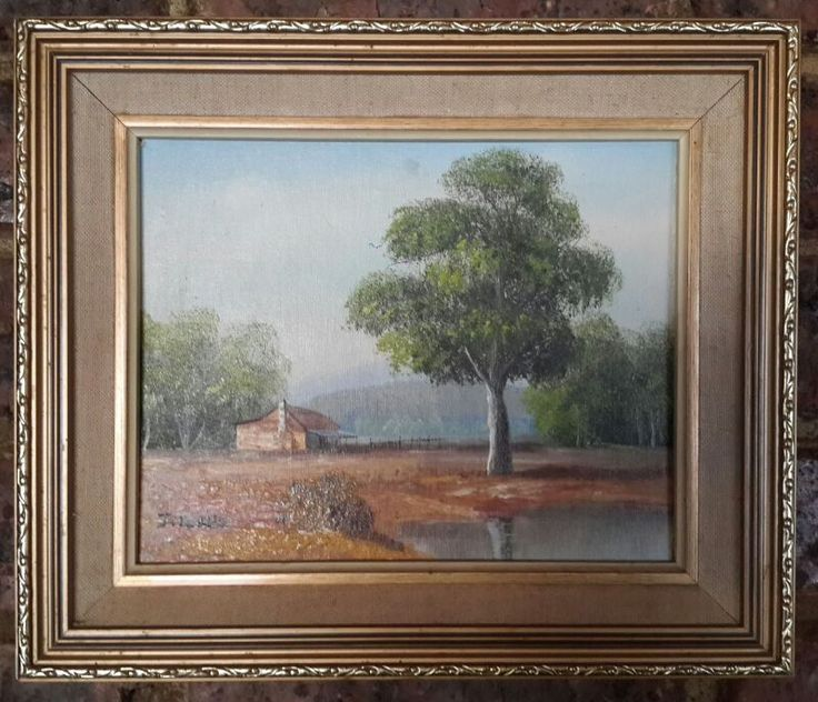 J. Tyler Landscape, Oil on Board