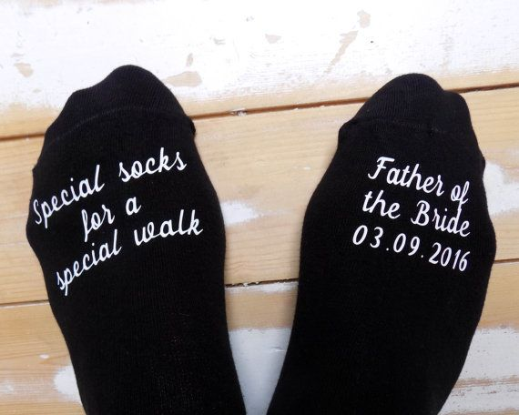 Personalised Wedding Socks – Father of the Bride – Special Walk Socks – Wedding Gift – Keepsake – Gift from Bride – Personalised Groom Socks