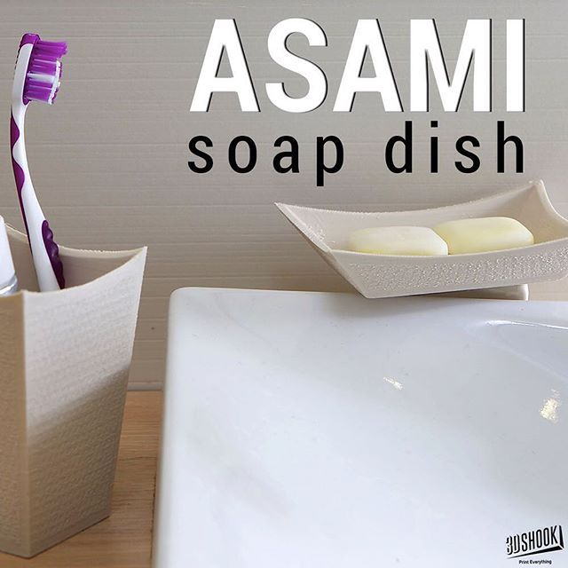 "@3dshookcollections's photo: ""The ASAMI collection - slight hint of the Far East to adorn your sink. Check us out at www.3dshook.com #3dprint #3dmodels #3dprinted #3dprinter #3dprinters #3dprinting #makers #makersgonnamake #PrintEverything #tech #technology #design #japan #asia #bathroomset #deco #decor #interiors #bathroom #soapdish #cool"""