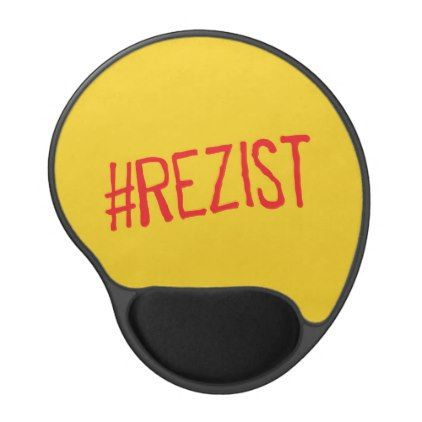 #rezist romania political slogan resist protest sym gel mouse pad - #office #gifts #giftideas #business