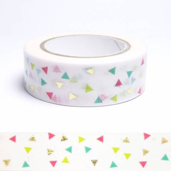Masking tape méli-mélo de triangles métallisés